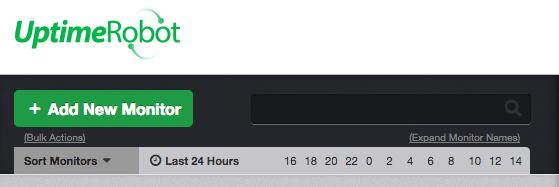 screenshot of add new monitor button